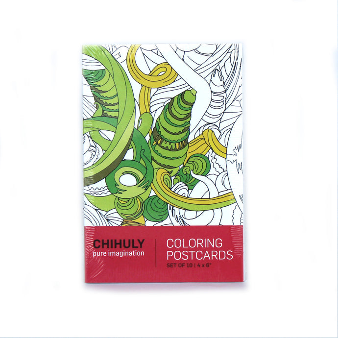 Chihuly Pure Imagination Coloring Postcards