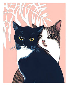 """Love Cats"" Giclée Print"