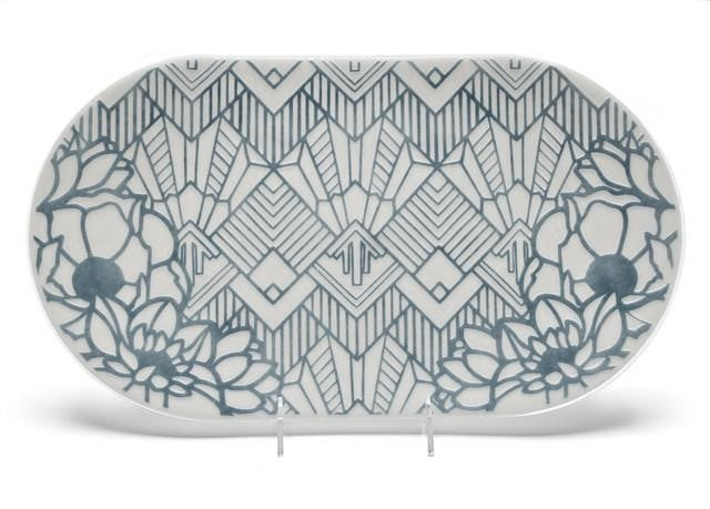 Grey Glass Platter