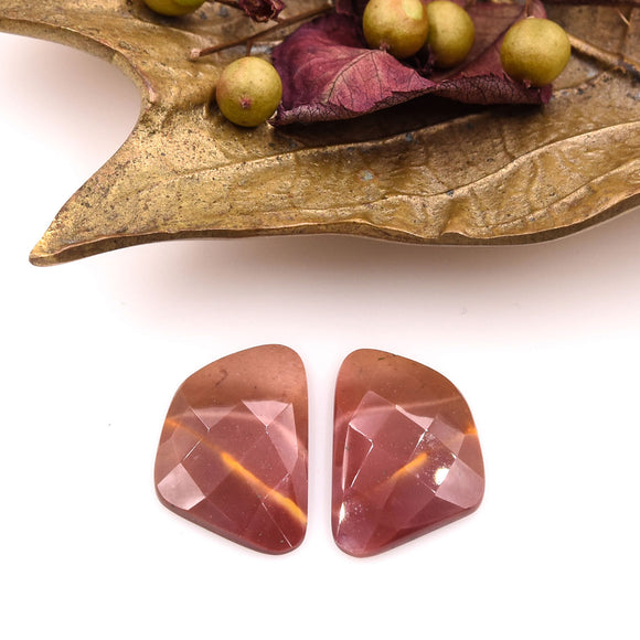 Mookaite Faceted Pair- Parcel A