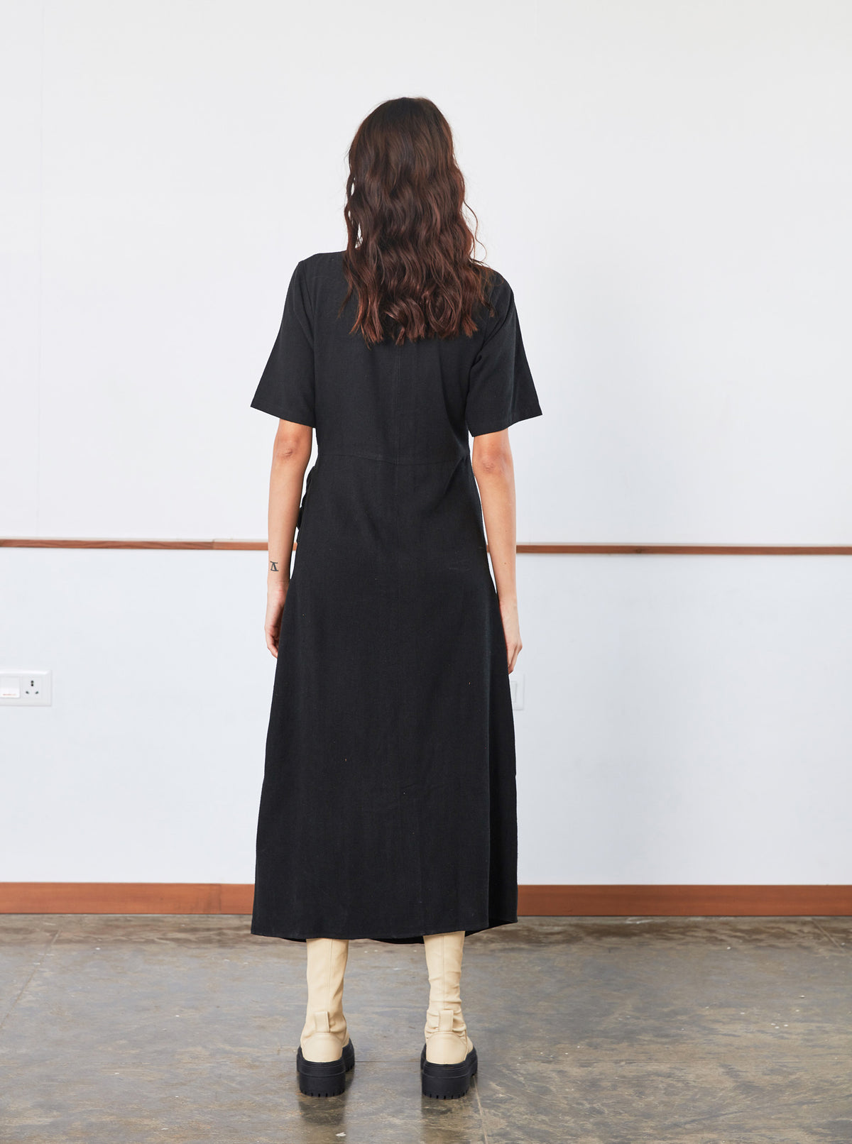 Drawstring Dress | Black