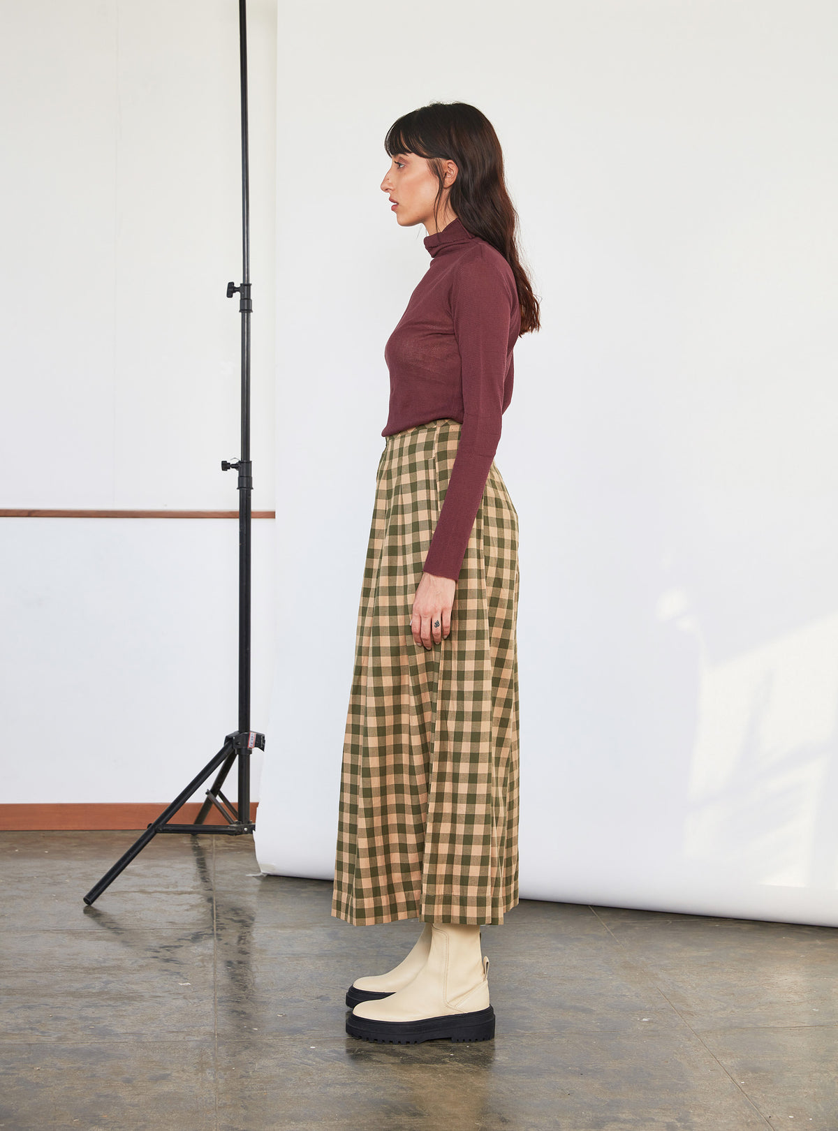 Frida Pants | Emerald x Ochre Chex