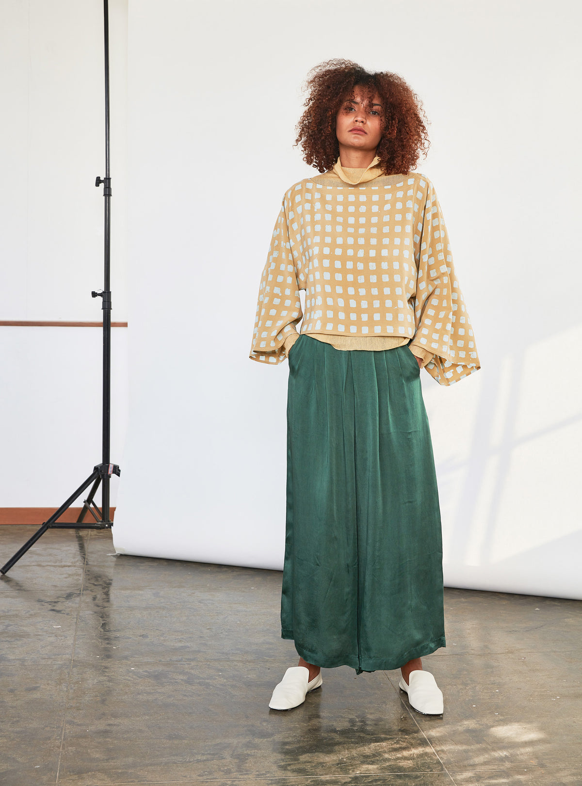 Wide Leg Pants | Emerald