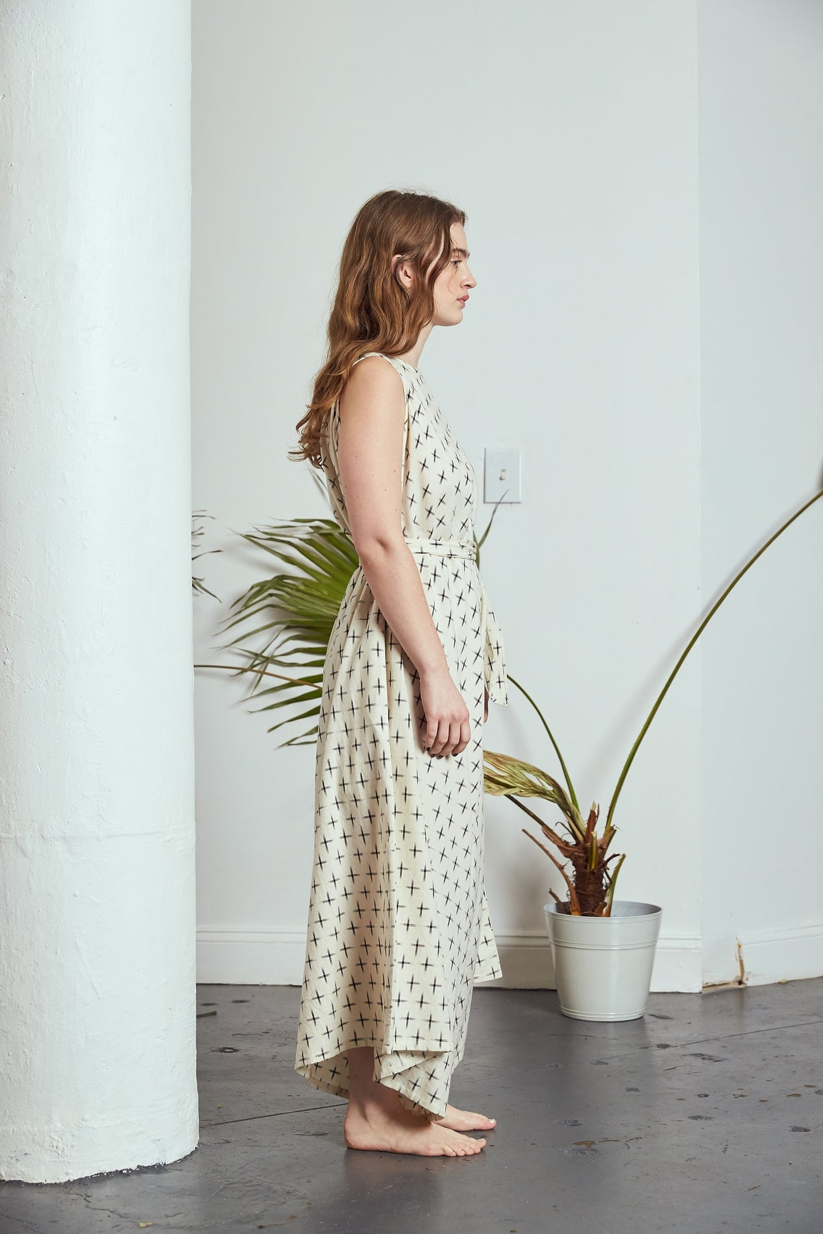 Sample | Flare Wide Leg Jumper | Ikat