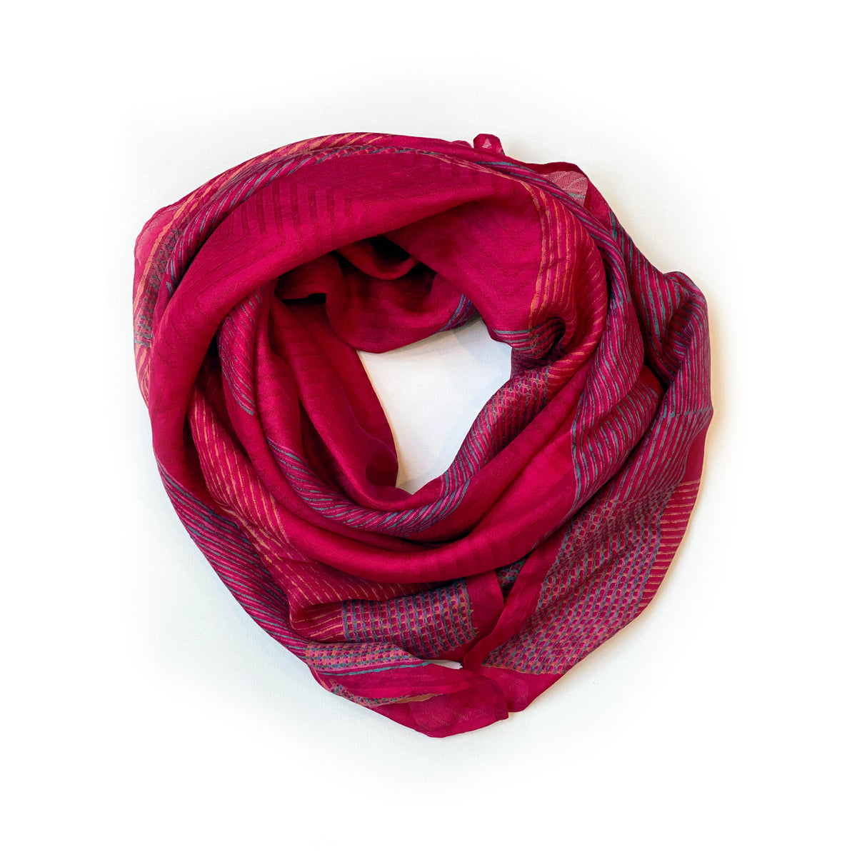 Red Geo Scarf