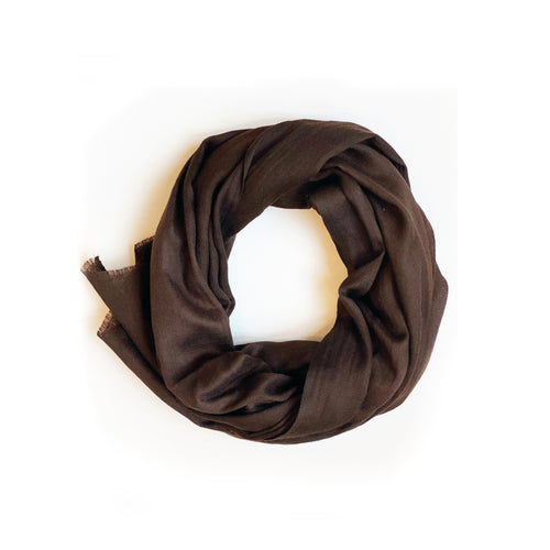 Chocolate Fringe Scarf