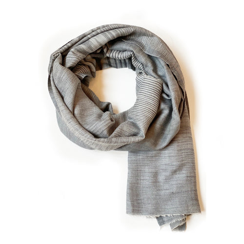 Ombre Stripe Scarf | Grey
