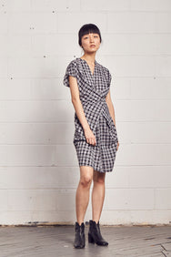 AKI Ikat Wrap Dress