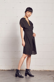 AKI Chex Wrap Dress
