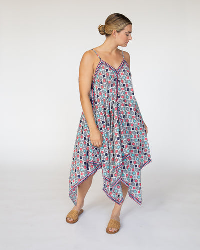 Handkerchief Cover Up Dress | Summer Sun Geo