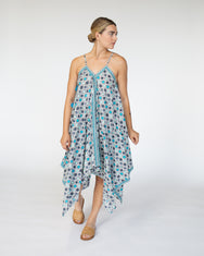 Handkerchief Cover Up Dress | Blues Geo