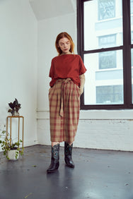 Sample | Misha Skirt| Tan Chex