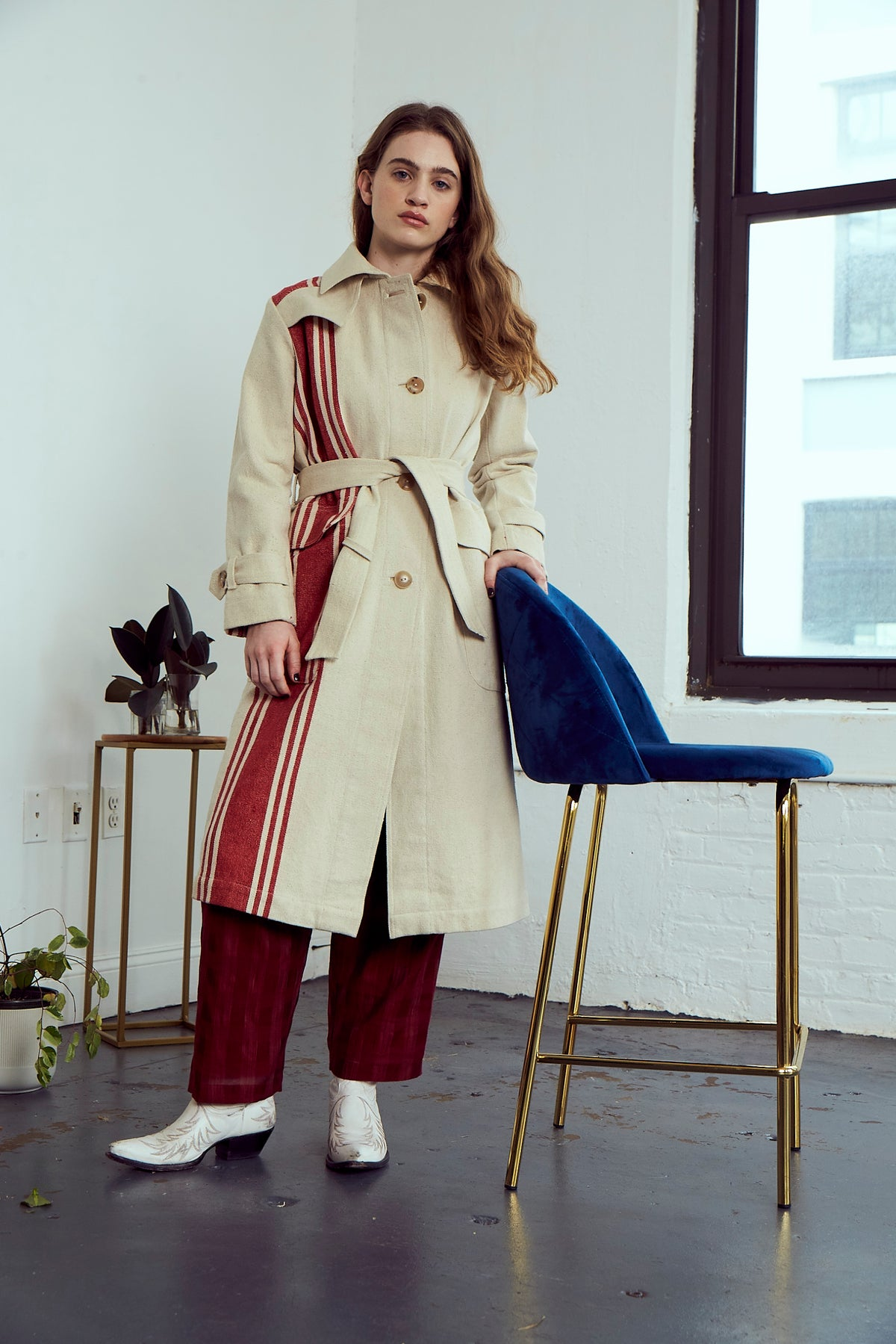 Grass Roots Trench Coat | Natural