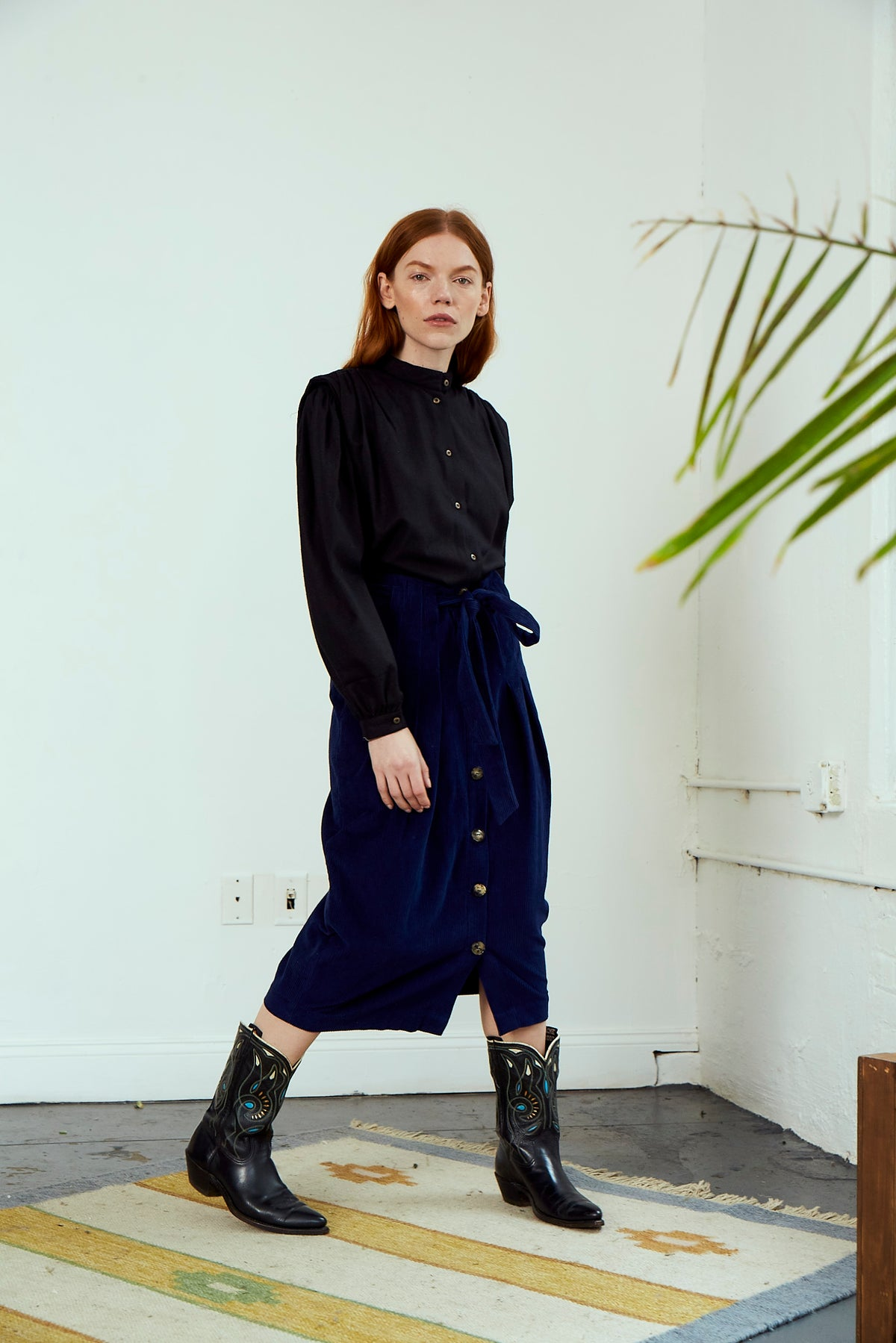 Sample | Misha Skirt |Navy Cord