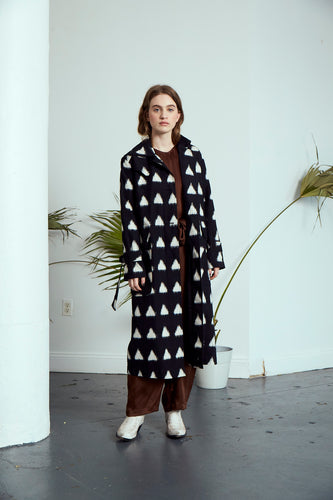 Grass Roots Trench Coat | Ikat
