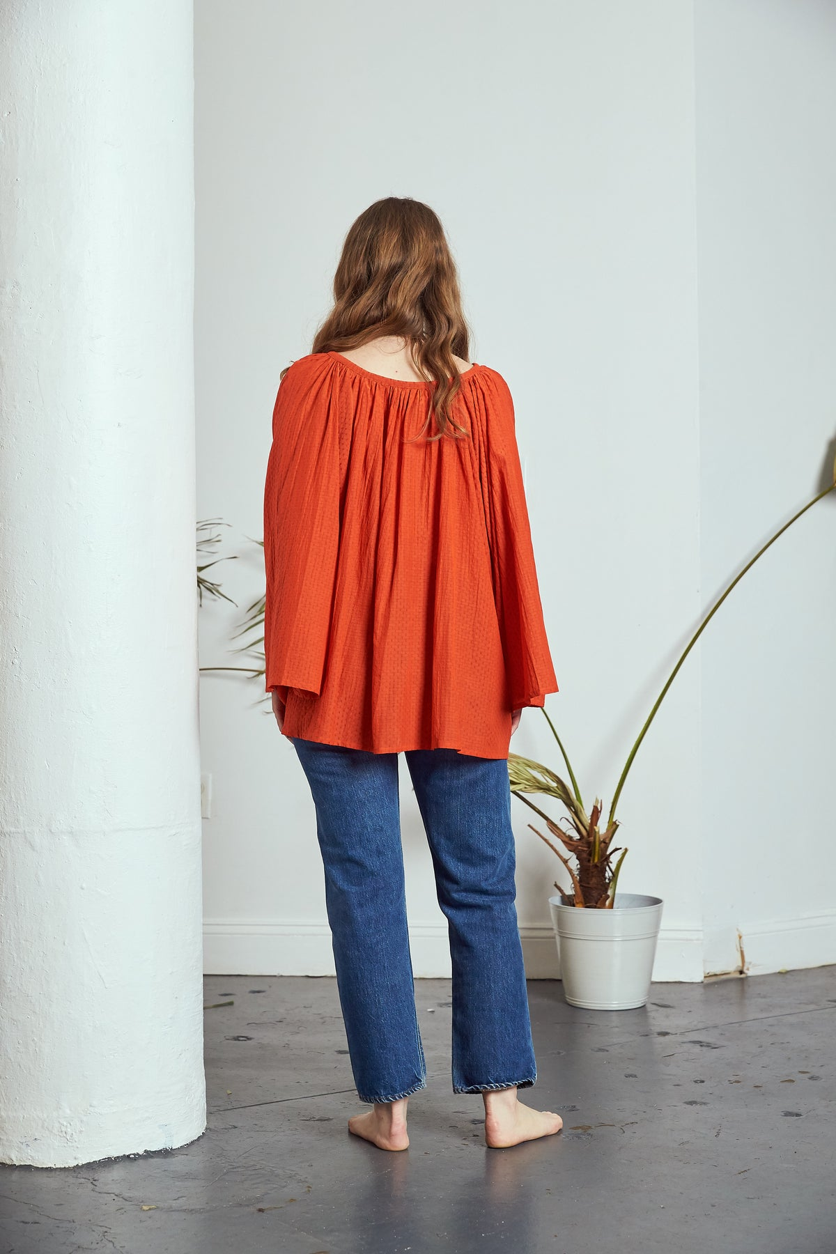 Sample | Maya Top | Tangerine