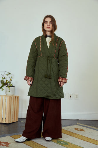 Sample | Jaipur Quilted Coat|  Olive