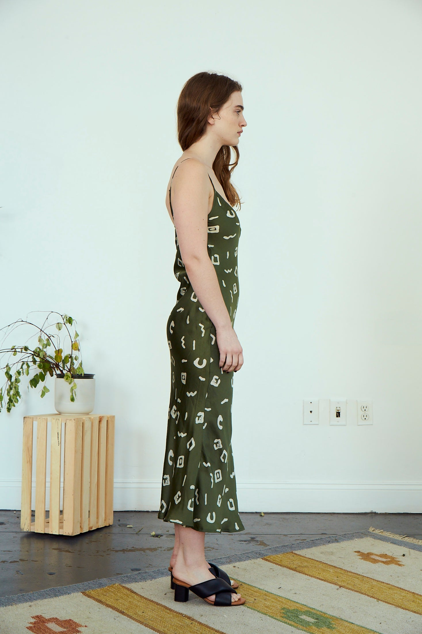 Frida Slip Dress | Olive