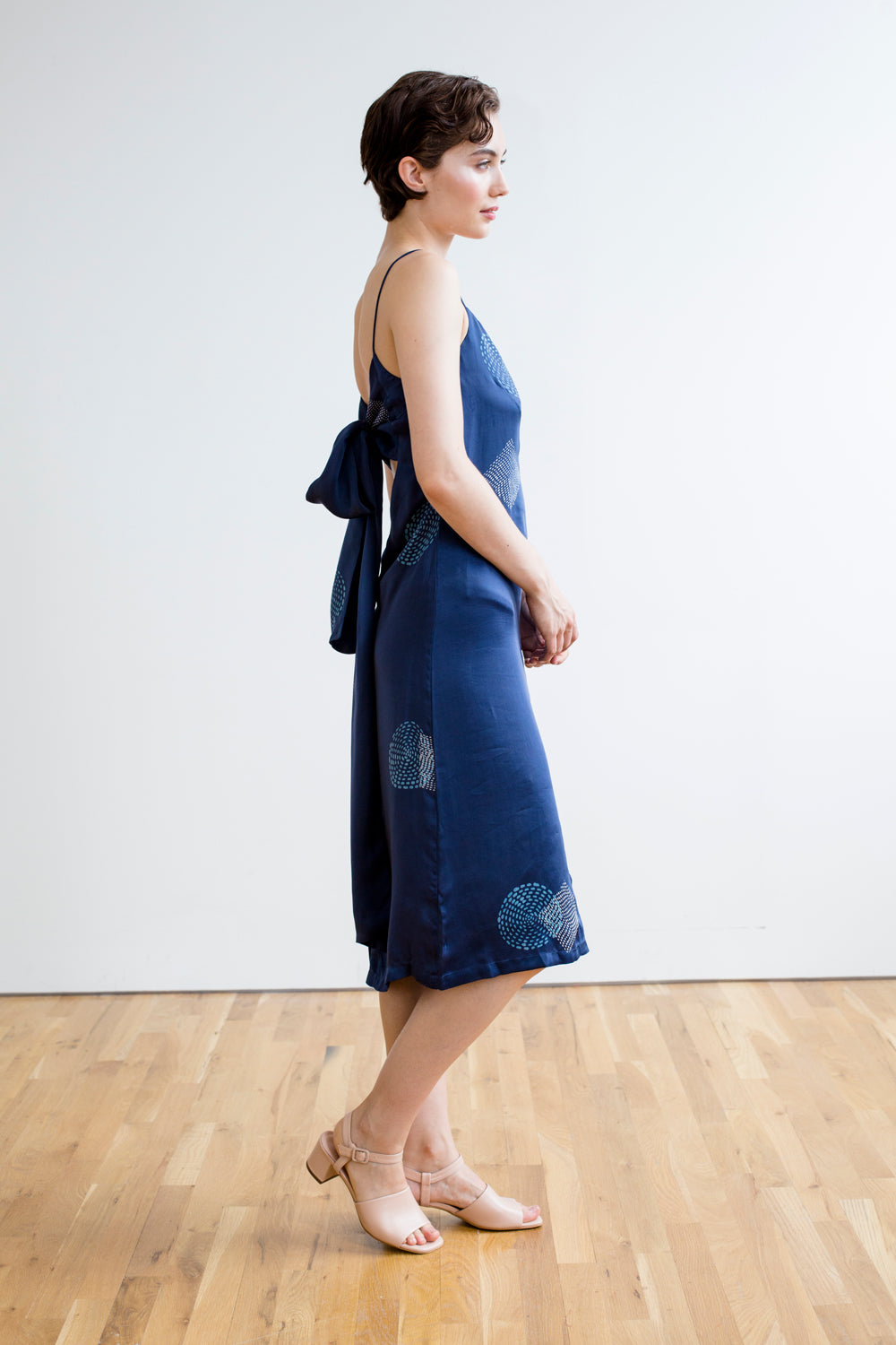 Slip Dress | Wonderland Print in Indigo: Pre-Order