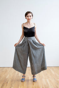 Frida Pants | Black & White Chex