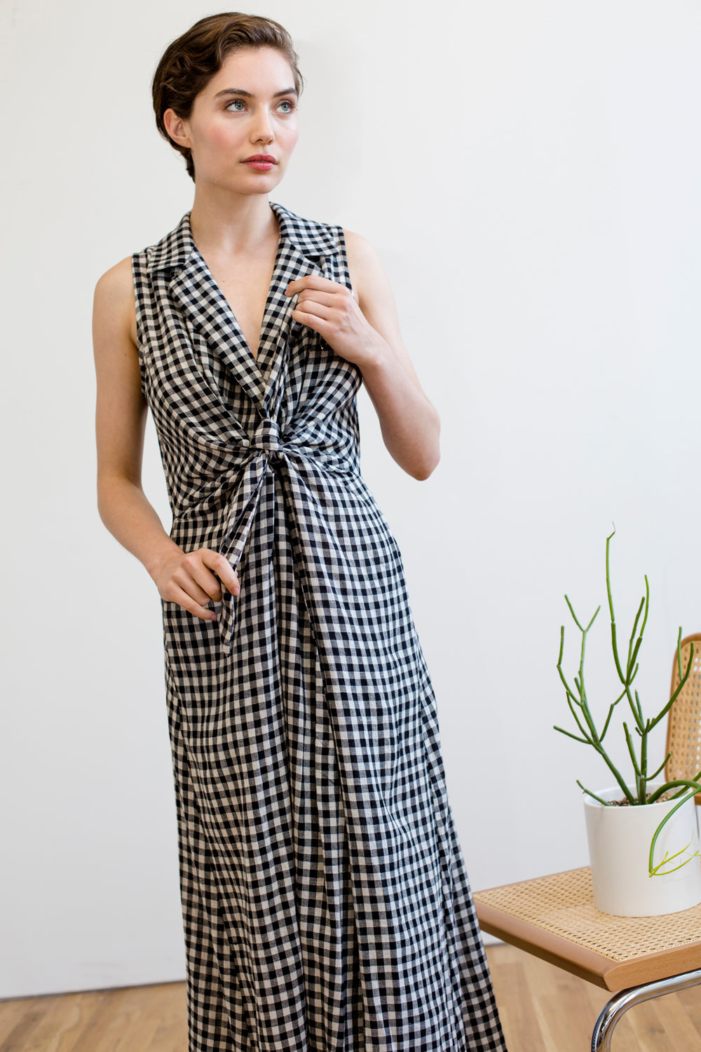 Emily Dress | Black & White Chex