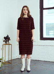 Chelsea Pleated Dress | Umber
