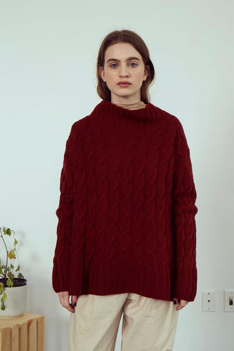 Cable knit Sweater | Karma