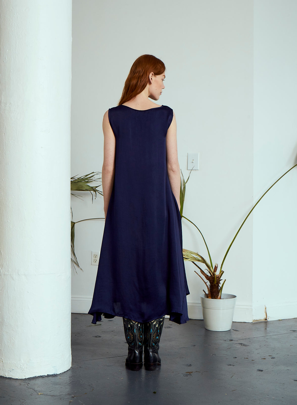 October Flare Dress | Royal