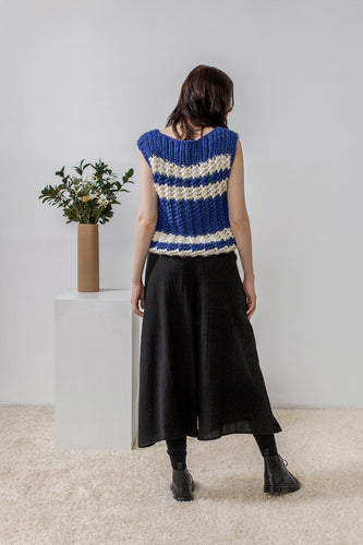 Nancy Striped Hand Knitted Sweater Vest