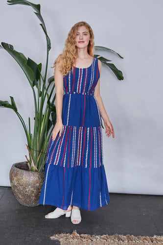 Gema Tier Dress | Iris Merida Stripes