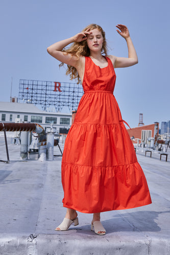 Gema Tier Dress | Sunset