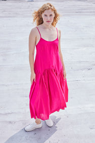 Leila Slip Dress | Hot Pink