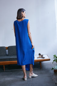 Sara Cowl Dress | Iris