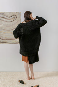 Ash Cozy Hand Knitted Cardigan