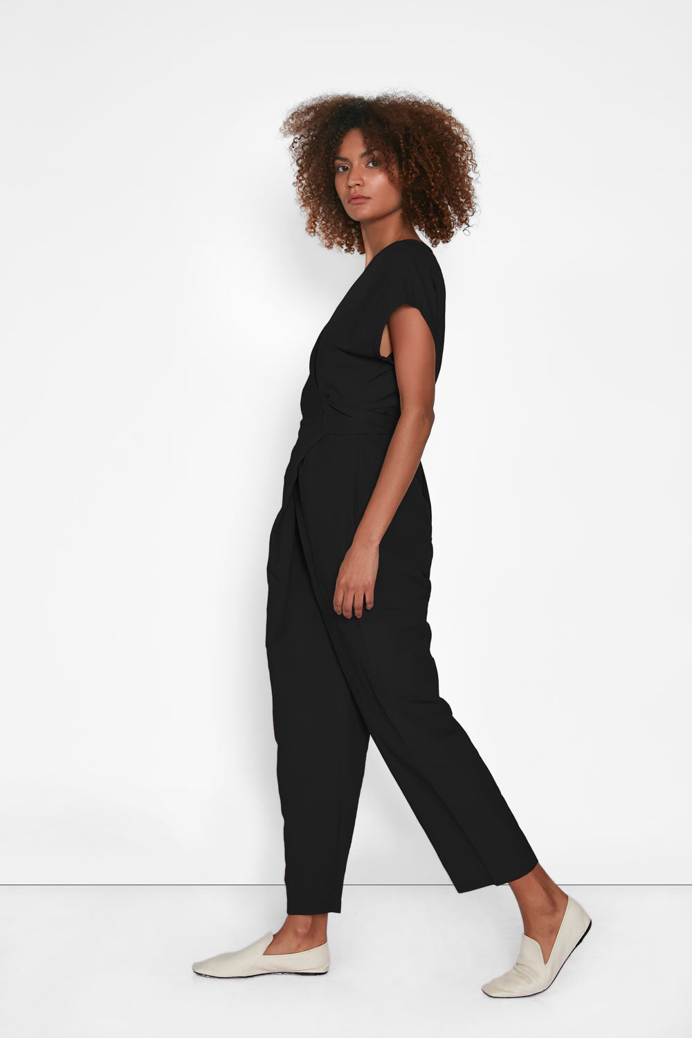Venus Wrap Jumper | Black