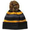 Beanie with PomPom (Black Lettering)