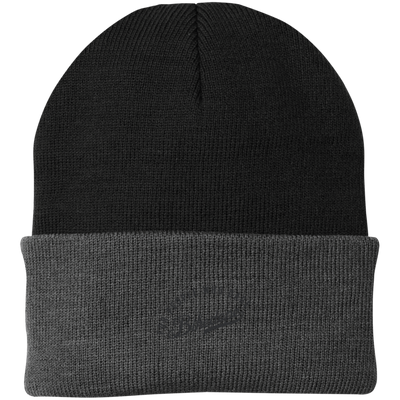 Knit Cap (Black Lettering)