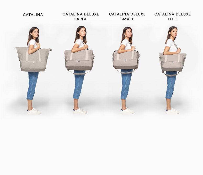Compare the Catalina and Catalina Deluxe weekender bags