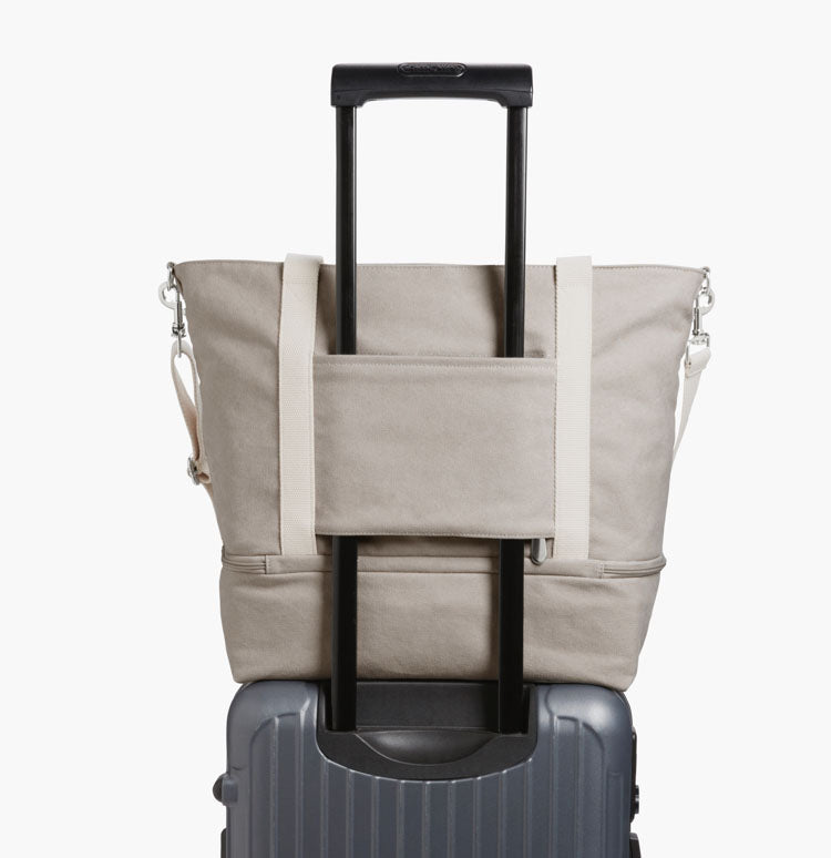 Catalina with handle sleeve on luggage