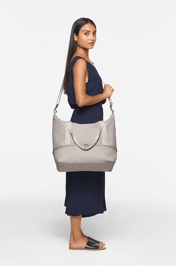 short woman with Catalina Deluxe Tote - side view