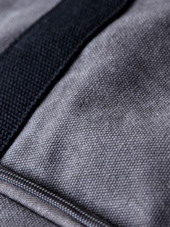 close up of washed cotton canvas material