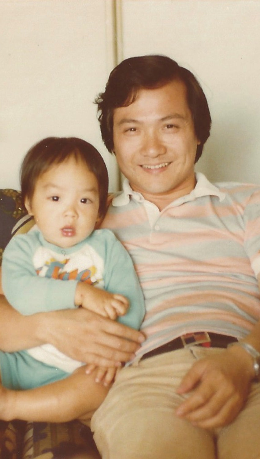 Fred Lo with son