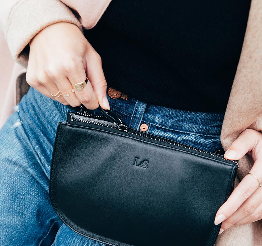 Discover the Waverly, a stylish travel crossbody bag made from premium materials