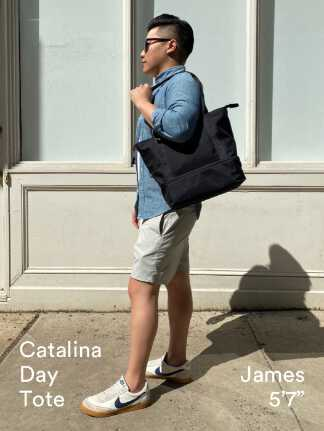 """Catalina Day Tote - James is 5'7"""""""