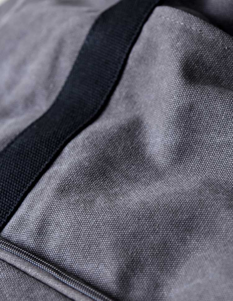 detail of the pre-washed canvas material