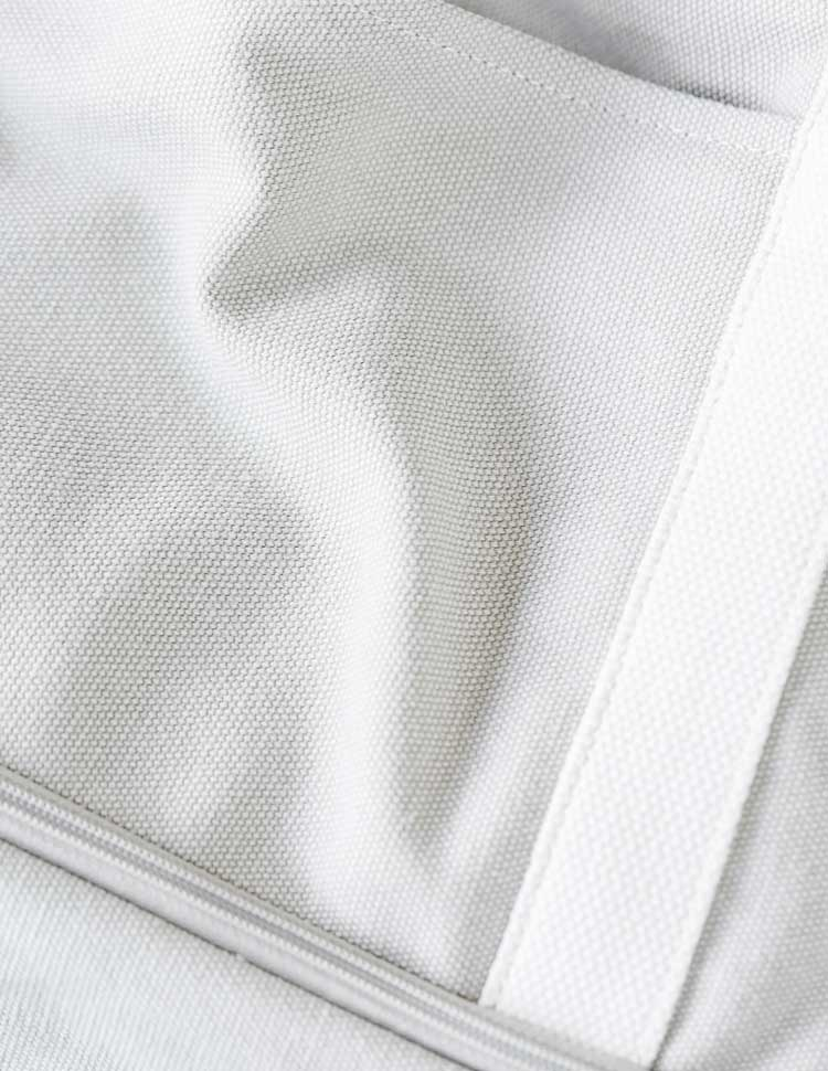 detail of the organic cotton canvas material