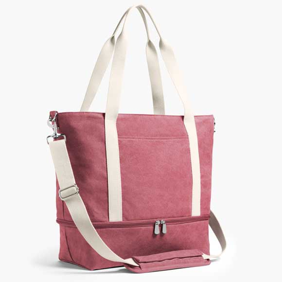 Catalina Deluxe Tote in Rose product shot