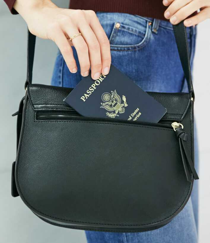 passport being removed from Claremont back pocket