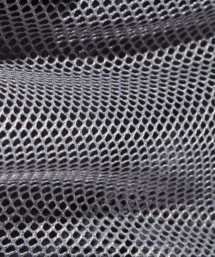 close up of mesh interior pockets