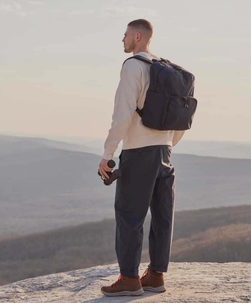man hiking with Hanover Deluxe 2